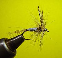 Adams Dry Fly being tied