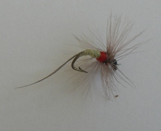 Typical artificial fly used for fly fishing