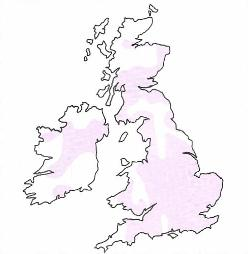 Perch distribution in the United Kingdom and Ireland